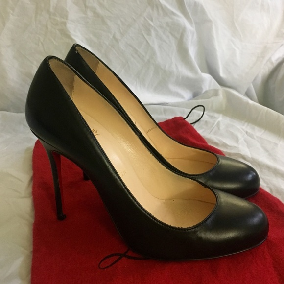 549379fc0bdc Christian Louboutin Shoes - Christian Louboutin Simple leather pumps 100mm  7.5